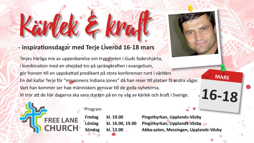 Kärlek & kraft - Inspirationsdagar med Terje Liverød 16-18 mars